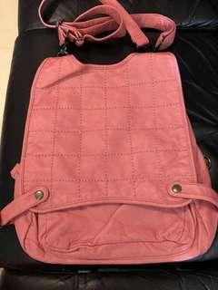 全新 韓國皮袋 可三用,斜咩,手挽,背包