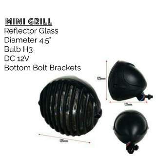 Motorbike/ Caferacer Headlight/ Lamp Mini Grill