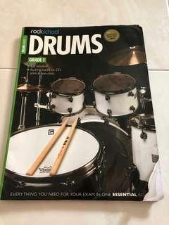 Rockschool Drums Grade 1 with CD