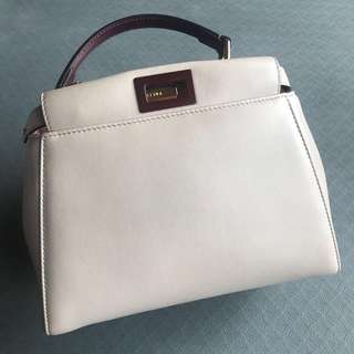 ** SOLD ** Preloved FENDI Peekaboo Mini - Grey Multicolor
