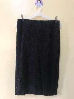 Black Lace Bandage Skirt