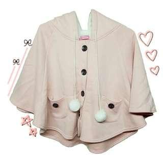 🚚 粉色軟妹斗篷外套