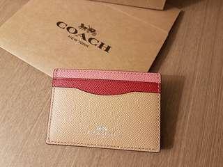全新 Coach Card holder