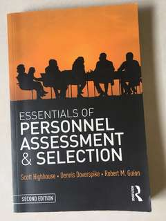 Essentials of personnel assessment & selection -second edition