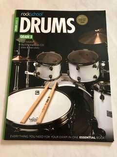Rockschool Drum Grade 3 book with CD
