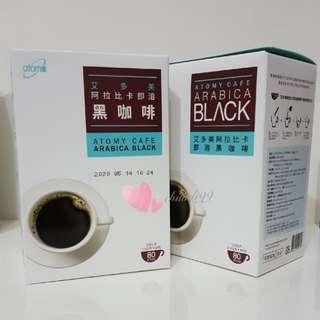 🚚 Atomy⚘艾多美 阿拉比卡即溶黑咖啡 (1.6公克× 80包)【中壢面交】