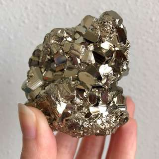 Golden Iron Pyrite Large Cluster #G