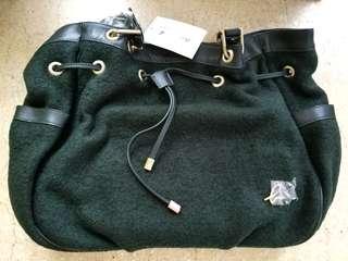 全新 Agnes B. Voyage 手袋 Bag 名牌手袋 Paris 返工袋 綠色