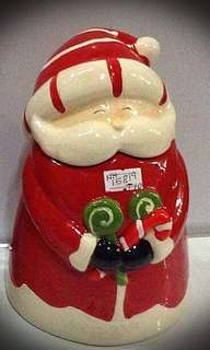 Mrs. Claus small candy jar