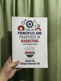 Principles and Practices in Marketing w/ signature of Josiah Go