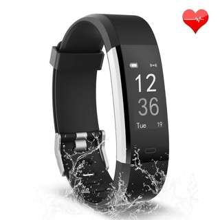 1218. Fitness Tracker, Waterproof Activity Tracker with Heart Rate Monitor Bluetooth Smart Watch Wireless Smart Bracelet Sleep Monitor Pedometer Wristband for Android and iOS Smartphone