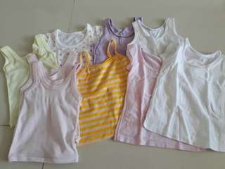 Baby tops and singlets