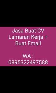 Jasa Buat CV + Surat Lamaran Kerja + Email