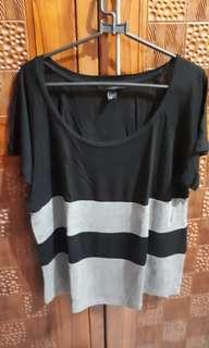 Kaos stripe bigsize / jumbo