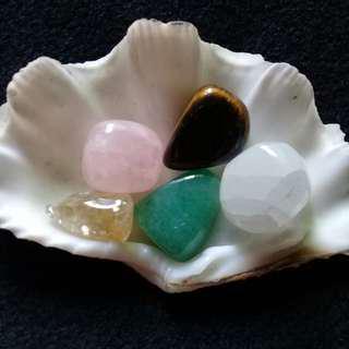 Beginner's Crystal set(Citrine, Rose Quartz, Tigers Eye, Aventurine,Selenite)