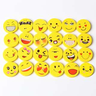 Smiley Face Erasers