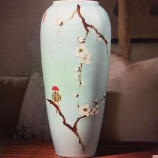陶瓷花瓶 花樽 藍色 中式婚禮佈置 結婚裝飾 chinese style vase