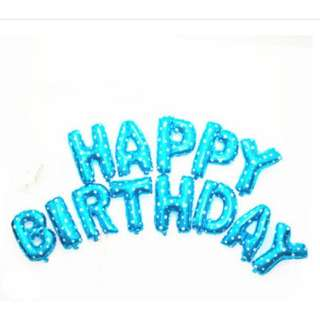 🚚 (In Stock)Happy Birthday Foil Balloons Set