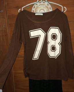Baseball maroon sweater sweatshirt