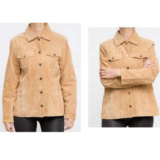 TCM Suede 100 % Leather Light Brown Vintage Jacket - NEW