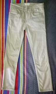 Celana cino warna cream CONNEXION