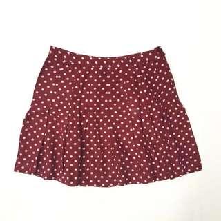 Forever 21 Red Polka Dot Skirt