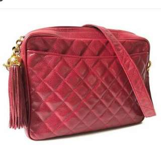 👉MURAH - CHANEL Camera Bag Red Caviar#tHe