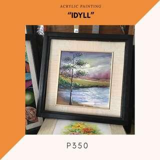 "Acrylic Painting - ""Idyll"" (ready to hang)"