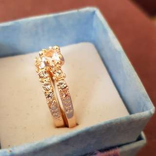 gorgeous rose gold plated engagement set 8.5