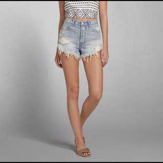 Abercrombie festival high waisted shorts