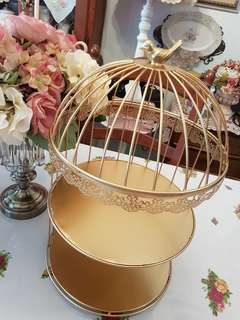 BIRD CAGE STYLE 2-TIER CAKE STAND - FOR RENTAL