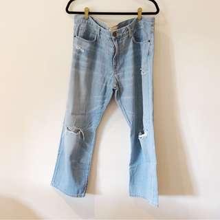 Current Elliot Boyfriend Jeans in Light Wash