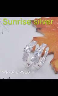 Couple ring 92.5 italy silver