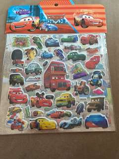 Disney Cars Stickers (2 pages)