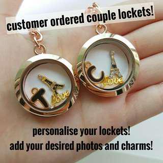 floating charm lockets