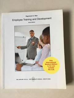 Employee Training and Development - Sixth Edition