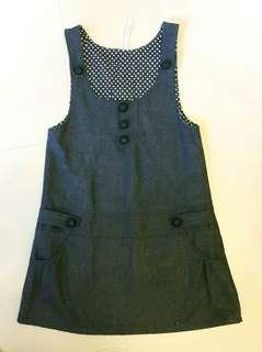 🚚 灰色❣低腰連身背心裙