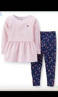 Authentic carter's top n long pant set for 12M