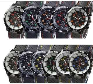 GT Men's Sport Chronograph style silicone strap watch