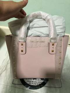 Authentic Michael Kors Pink Studded Sling Bag