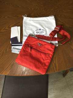 #RESERVED#BN Prada Sling crossbody casual bag
