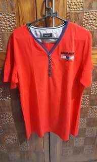 Kaos merah stretch bigsize / jumbo