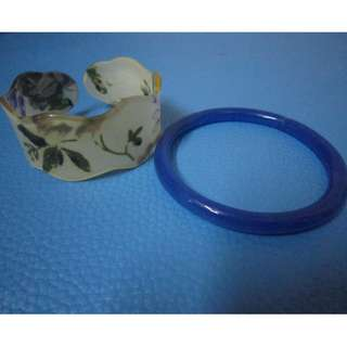 Floral and Blue bangle