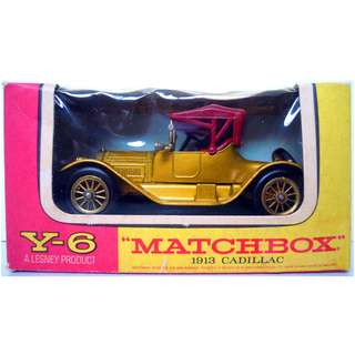 Lesney's Matchbox Y-6 1913 Cadillac (Models of Yesteryear Series)  * Original Super Vintage Set - Released in 1968 * Excellent Condition by Vintage Standards  (Diecast Vintage Car Collectible)