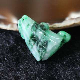 Type A Burmese Jade Jadeite Lotus Flower - 7.45g L26.5 W22.6 D9.7mm
