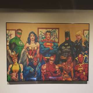 Justice league wall painting