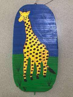 Give Away Giraffe Wooden Decoration/ Ornament