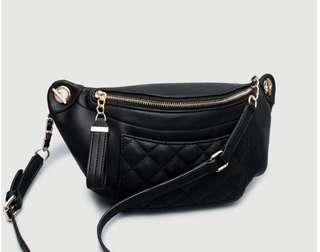 Elegant Coral Waist Bag Shoulder Bag