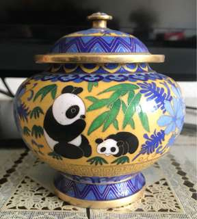 Cute Panda Painted Container