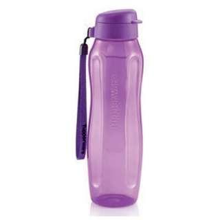 Tupperware Slim Eco Bottle (1) 1L with Strap - Purple
